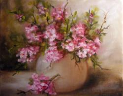 Picturi cu flori De florile marului