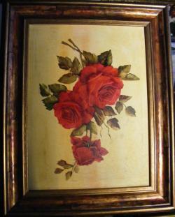 Picturi cu flori Floral trandafiri rosii