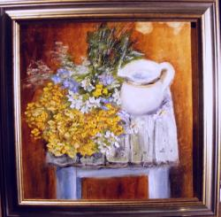 Picturi cu flori Flori de camp si cana