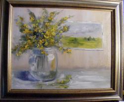 Picturi cu flori Flori galbene de primavara