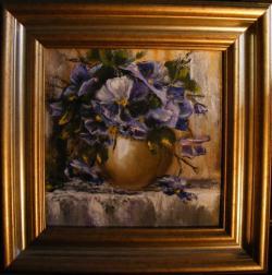 Picturi cu flori Flori mov de primavara
