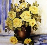 Picturi cu flori Galbeni aurii ii