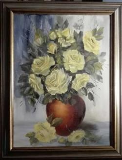 Picturi cu flori Galbeni aurii III