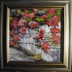 Picturi cu flori Gard alb inflorit