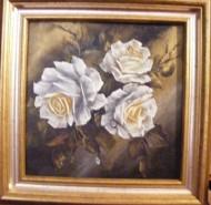 Picturi cu flori Lacrimi de alb