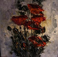Picturi cu flori Lumina difuza pe maci