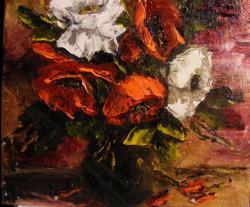 Picturi cu flori Maci efemeri