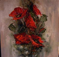 Picturi cu flori Maci II