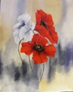 Picturi cu flori Maci varianta