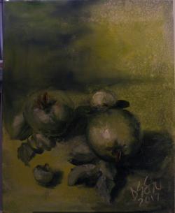 Picturi cu flori Mere verzi (dupa Cezanne)