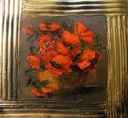 Picturi cu flori Miniatura cu maci