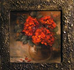 Picturi cu flori Muscate in vas