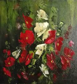 Picturi cu flori Nalbe la Partizani