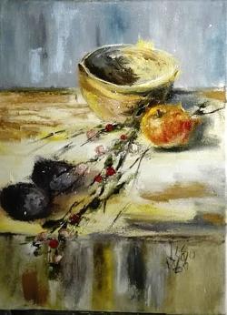 Picturi cu flori Natura statica cu bol