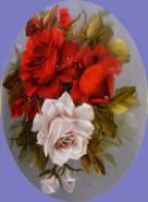 Picturi cu flori Oval de primavara
