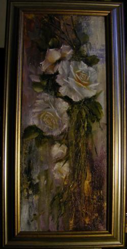 Picturi cu flori Ploaia de trandafiri 1