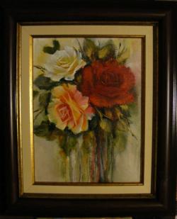 Picturi cu flori Ploaia de trandafiri colorati