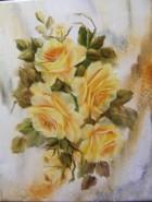 Picturi cu flori Poezie in auriu