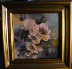 Picturi cu flori Ram cu flori de primavara
