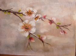 Picturi cu flori Ram inflorit