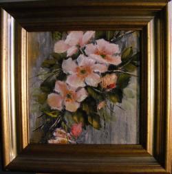 Picturi cu flori Ram de gutui
