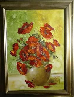 Picturi cu flori Reproducere studiu cu maci