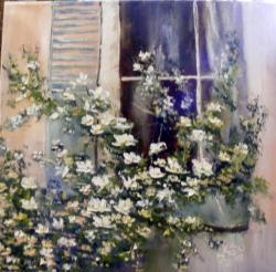 Picturi cu flori Revarsare din fereastra