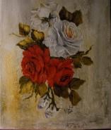 Picturi cu flori Rosu si alb