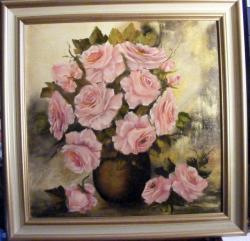 Picturi cu flori Roze clasice