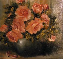 Picturi cu flori Roze roze