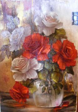 Picturi cu flori Rozele pasiunii