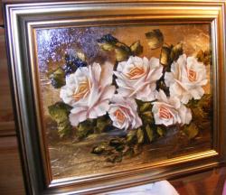 Picturi cu flori Trandafiri de iarna 1