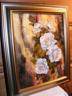 Picturi cu flori Trandafiri de iarna 2