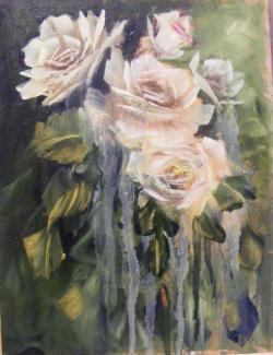 Picturi cu flori Trandafiri in tristete