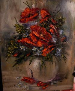 Picturi cu flori Umbra verii