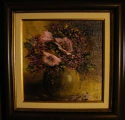 Picturi cu flori Urme de violet
