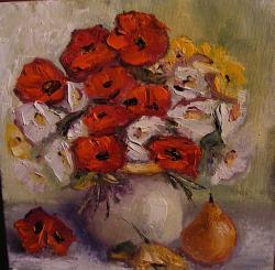 Picturi cu flori Vaza si para