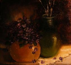Picturi cu flori Vibratie violet