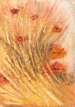 Picturi cu flori maci in lan