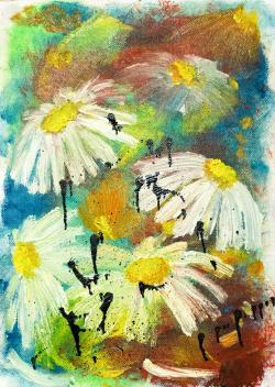 Picturi cu flori margaretele visate
