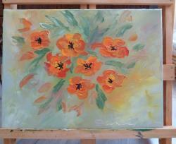 Picturi cu flori Red poppies
