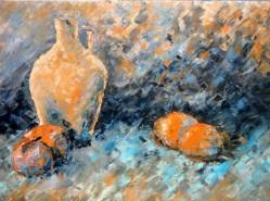 Picturi cu flori Crazy oranges