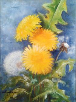 Picturi cu flori Flori de papadie