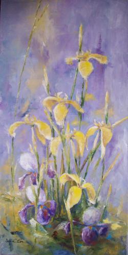 Picturi cu flori Irisi galbeni 1