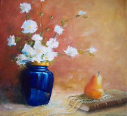 Picturi cu flori Natura statica cu flori si para