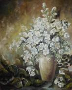 Picturi cu flori Iasomie si malin alb