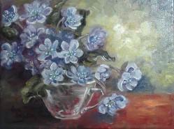 Picturi cu flori Viorele