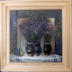 Picturi cu flori Flori de camp in trei vase