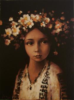 Picturi cu flori Coronita de margarete1