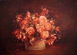 Picturi cu flori cos cu flori1